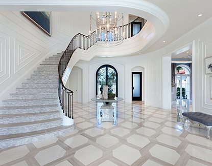 Marc-Michaels Contemporary Design European Inspired Stairs
