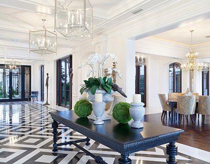 Ocean-to-Lake Traditional Design Manalapan Estate Interior